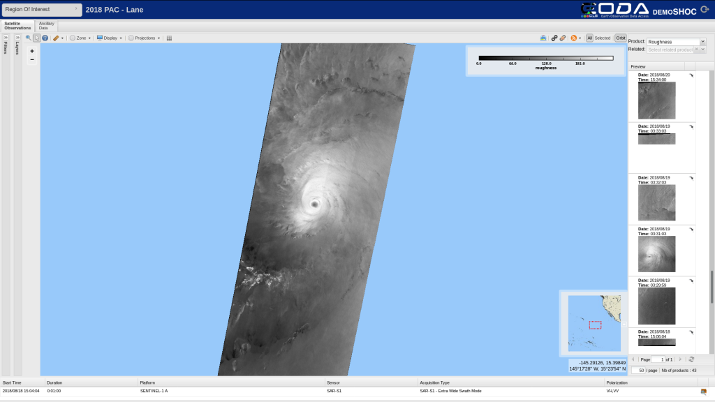 HurricaneLane SAR images