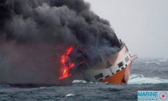 Grande America sinking - Photo net image Marine Nationale