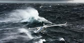 drone over sea