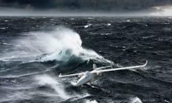 drone above sea
